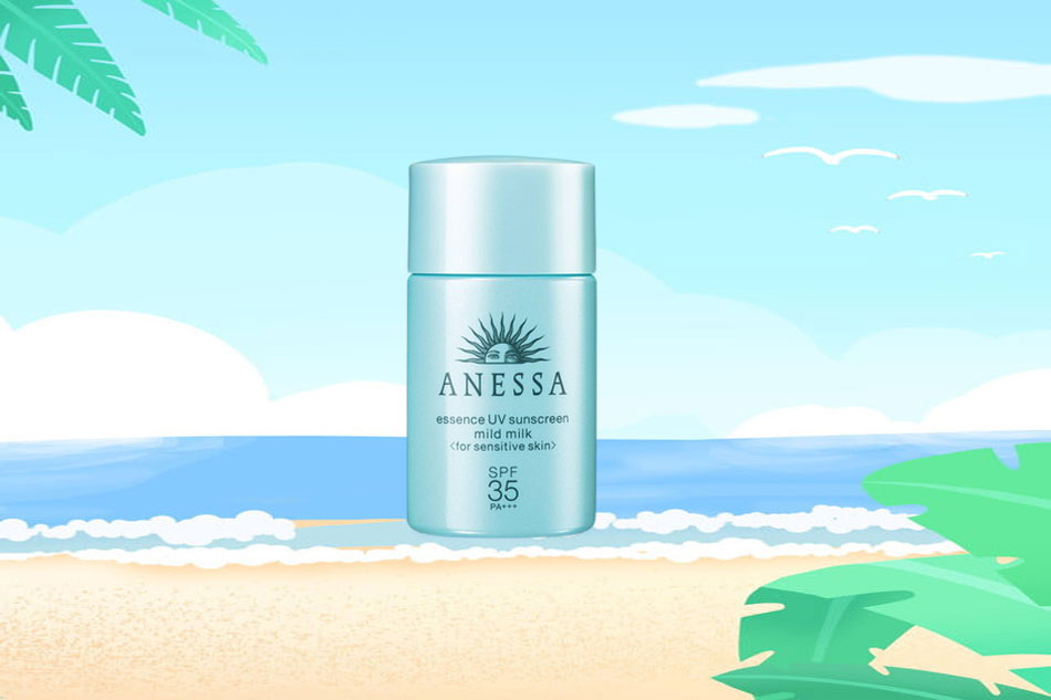 Anessa Essence UV Sunscreen Aqua Booster Mild SPF35+ PA+++ cho da nhạy cảm