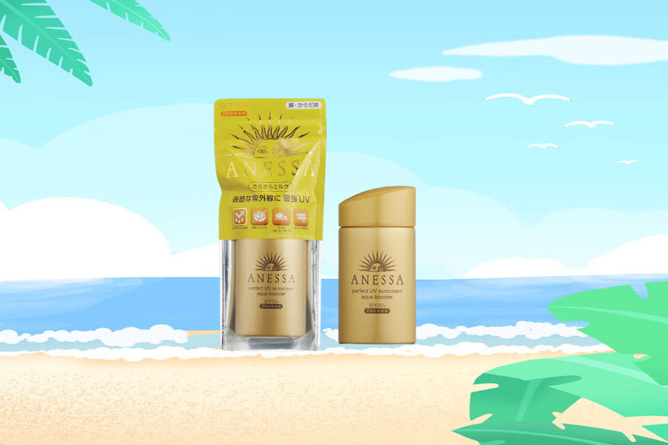 Anessa Perfect UV Sunscreen Aqua Booster SPF50+ PA++++ màu vàng