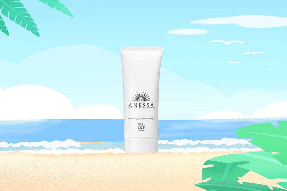 Anessa Whitening UV Sunscreen Gel 90g màu trắng
