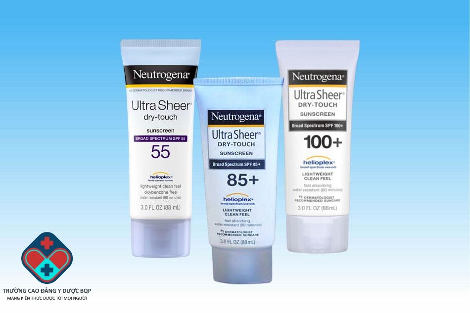 3 loại kem chống nắng Neutrogena Ultra Sheer Dry-Touch