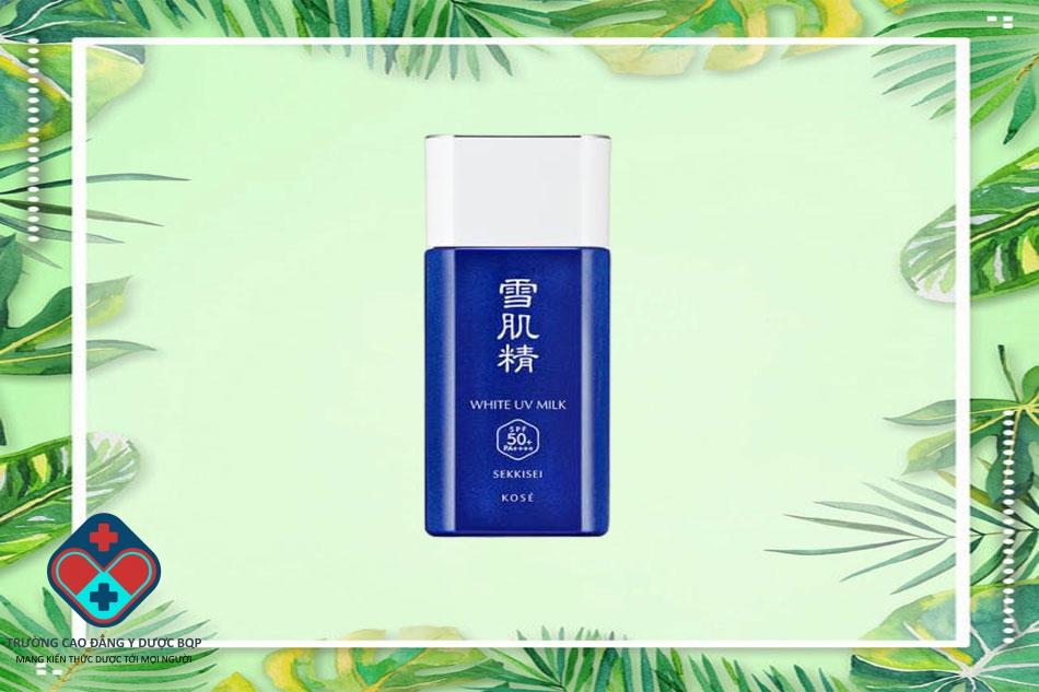 Kem chống nắng dạng sữa Kose Sekkisei White UV Milk SPF50+ PA++++