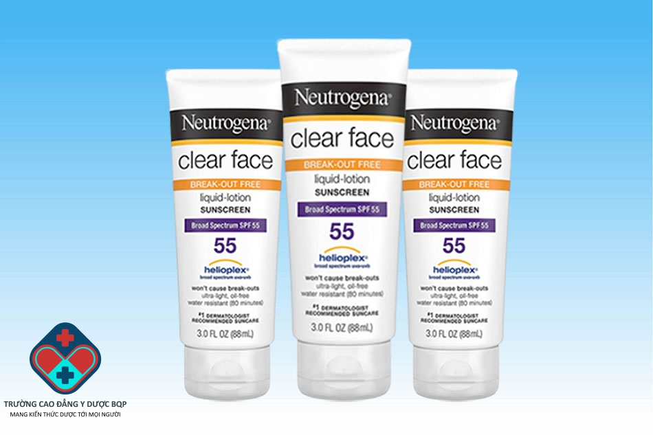 Kem chống nắng Neutrogena Clear Face Break-out Free Liquid Lotion Sunblock SPF 55