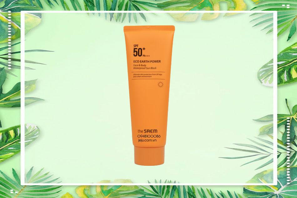 Kem chống nắng The Saem Waterproof Sun Cream (màu cam)