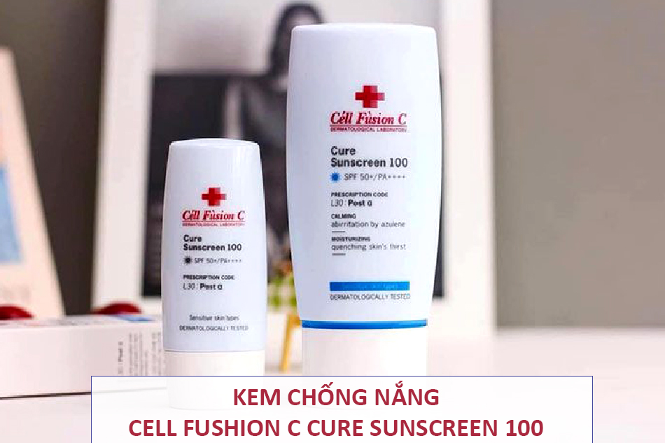 Kem chống nắng Cell Fusion C Cure Sunscreen 100 SPF 50+/PA++++