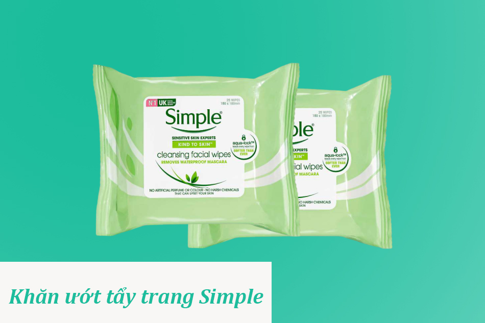 Khăn ướt tẩy trang Simple Kind to Skin Micellar Cleansing Wipes