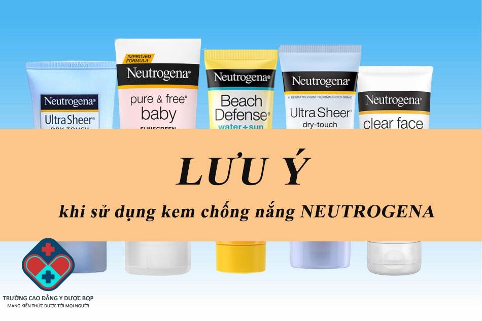 Lưu ý khi dùng kem chống năng Neutrogena