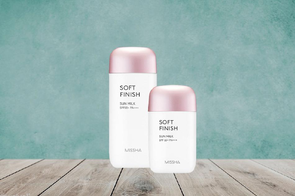 Kem chống nắng Missha Soft Finish Sun Milk màu hồng