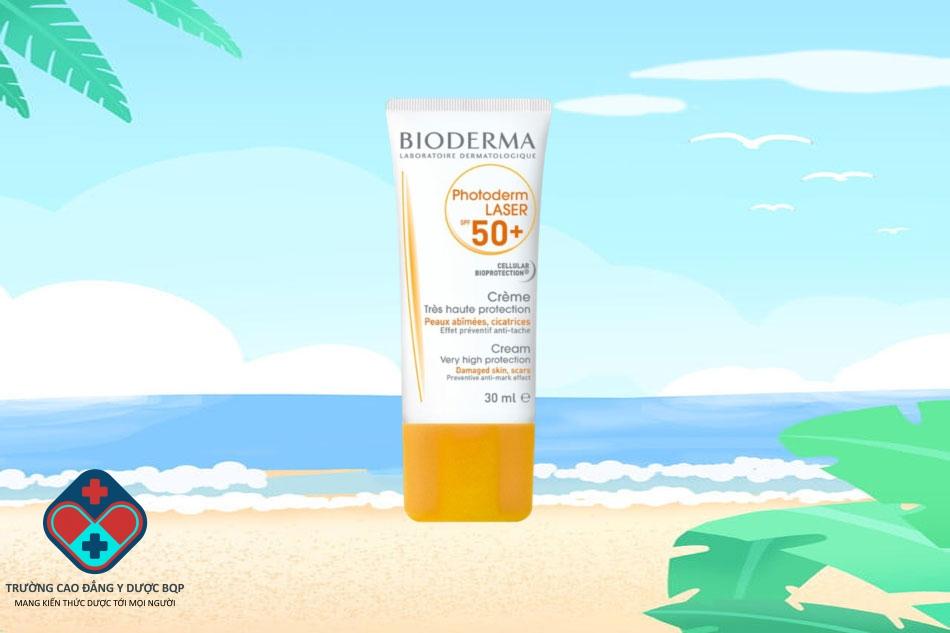 Kem chống nắng dành cho da tổn thương Bioderma Photoderm Laser Cream SPF50+ PPD38