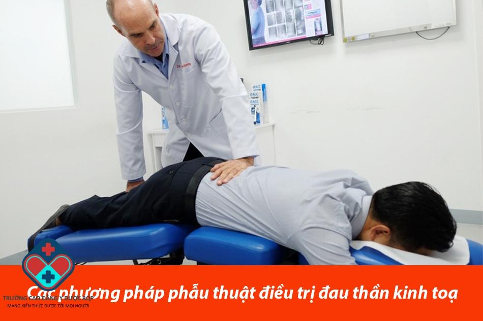 Các phương pháp phẫu thuật điều trị đau thần kinh toạ