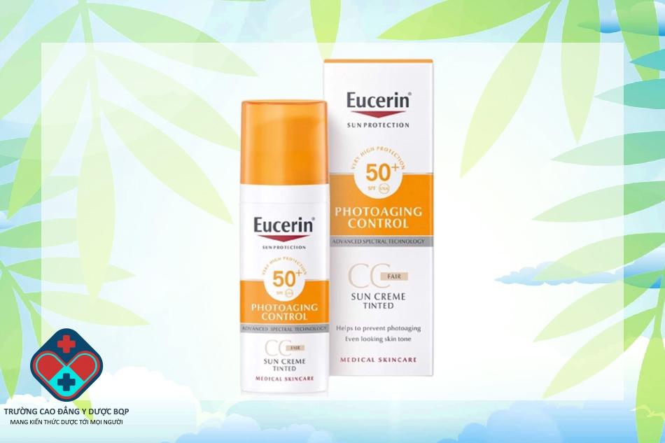 Kem chống nắng Eucerin Sun Creme Tinted CC Fair SPF 50+ cho da nhạy cảm