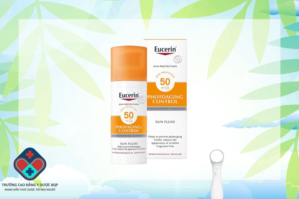 Kem chống nắng Eucerin Sun Fluid Photoaging Control SPF 50+ cho da khô