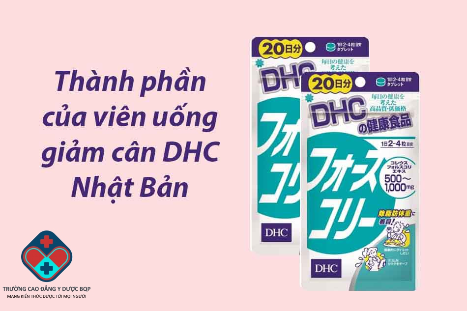 Thành phầncủa viên uống giảm cân DHC Nhật Bản