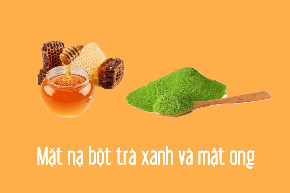 Mặt nạ bột trà xanh và mật ong
