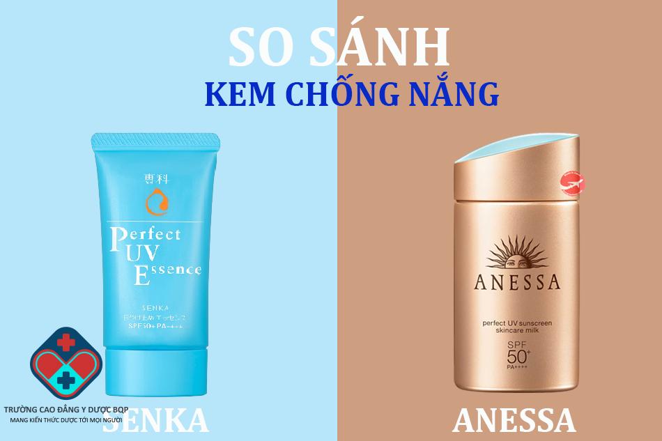 So sánh kem chống nắng Senka và chống nắng Anessa