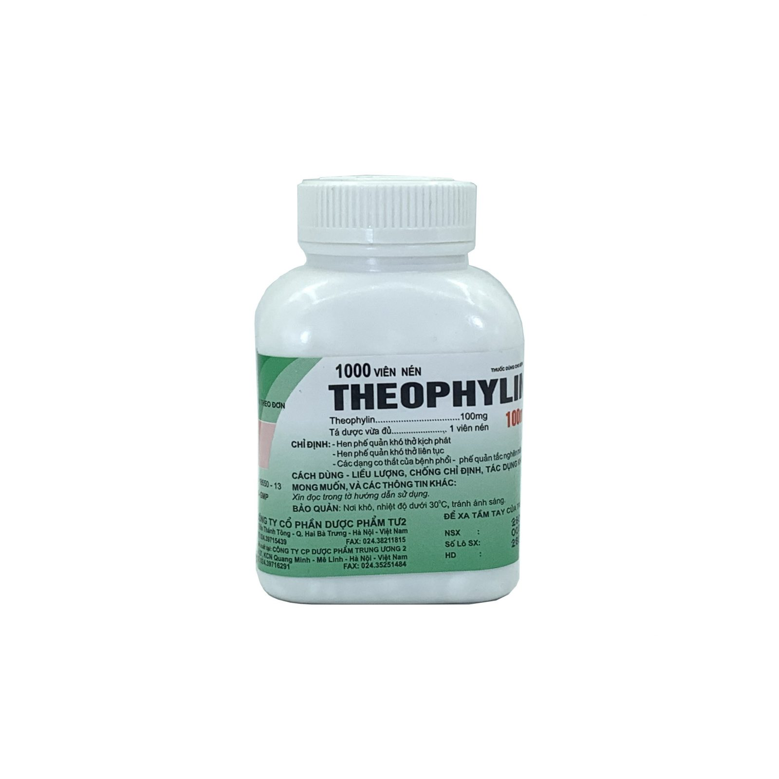 Thuốc Theophylin 100mg