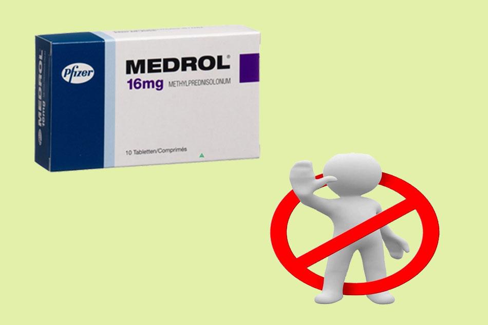Chống chỉ định của Medrol