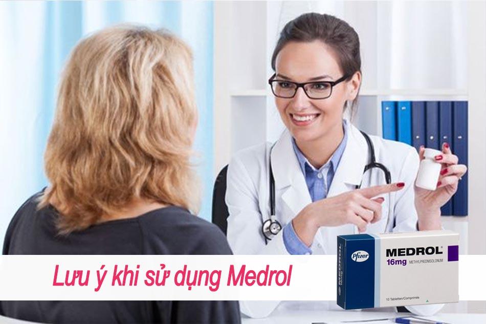 Lưu ý khi sử dụng Medrol