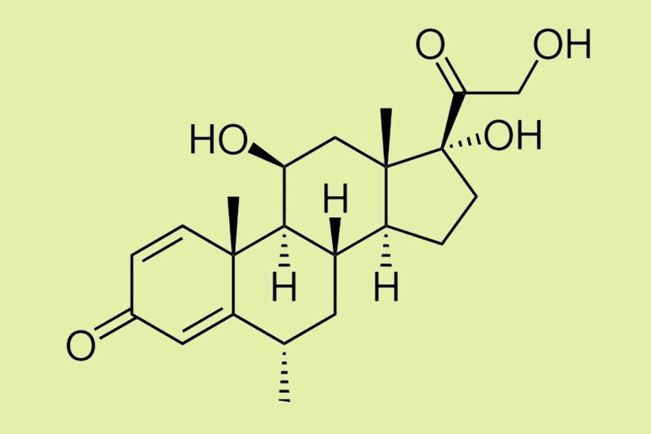 Hình ảnh: Cấu trúc hóa học của Methylprednisolone